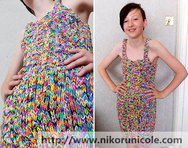 Как из резинок сделать платье для человека - Urbiznes.ru